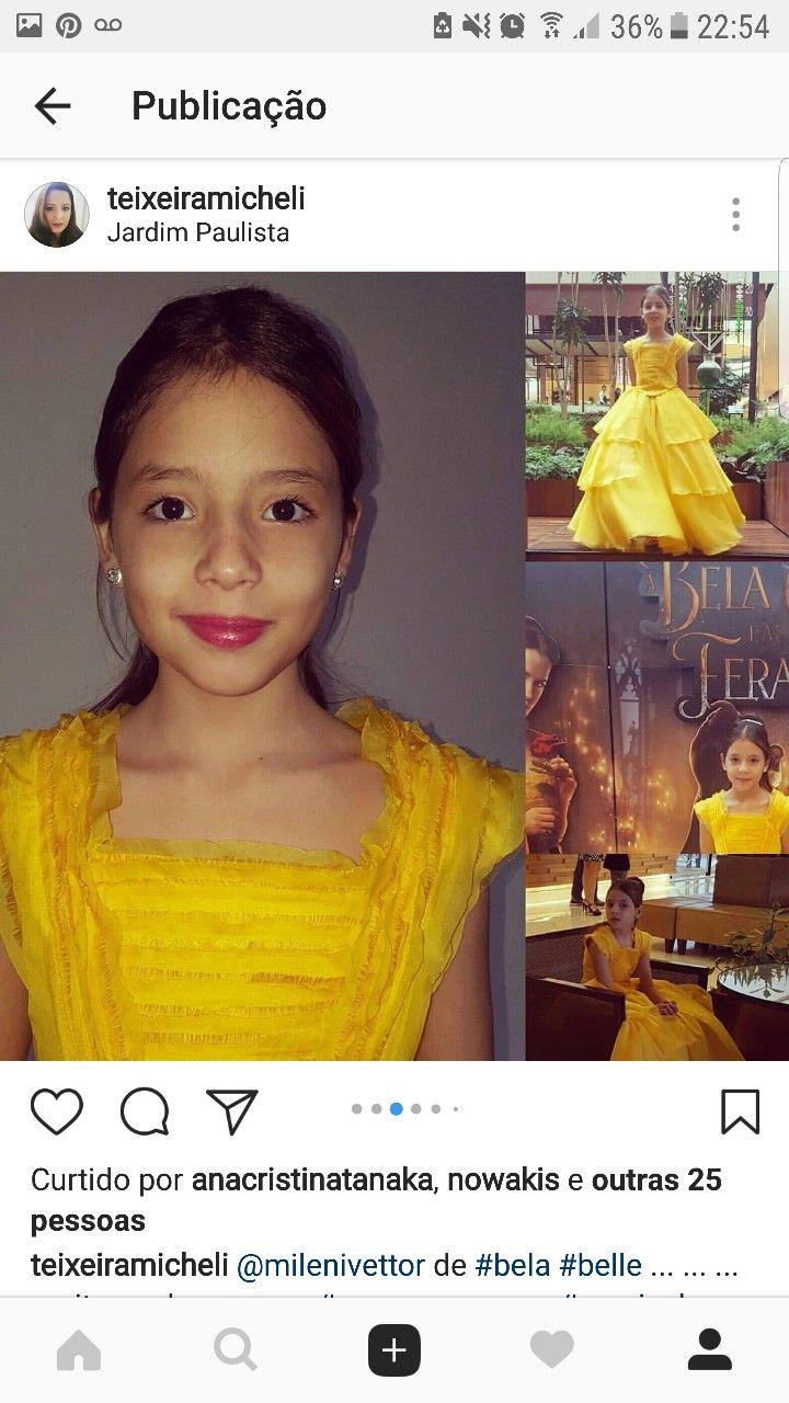 bela vestido amarelo