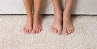 Did you know that the body's natural oils are transferred onto the carpet fibres from walking barefoot on the carpet?  these oils attract the dirt.  To keep your carpet looking cleaner for longer, you should always wear socks or slippers inside. #carpetcleaningmelbourne