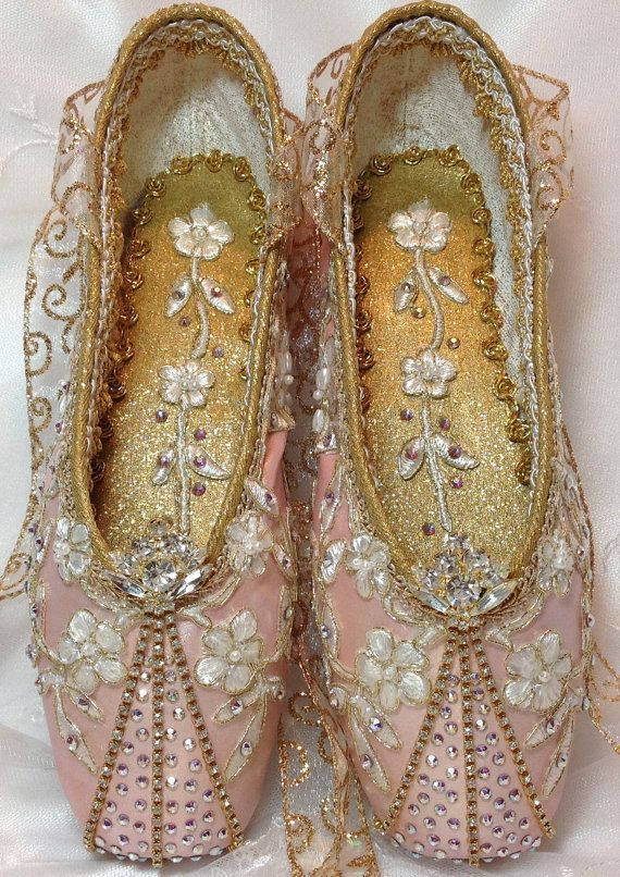 Exquisite pair of pink and gold decorated by DesignsEnPointe