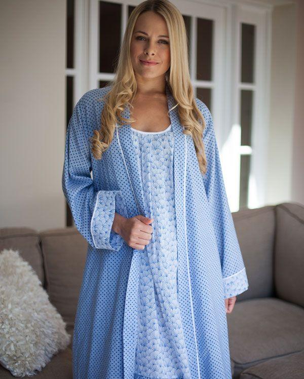 Danielle Long Sleeve Spot Print Robe