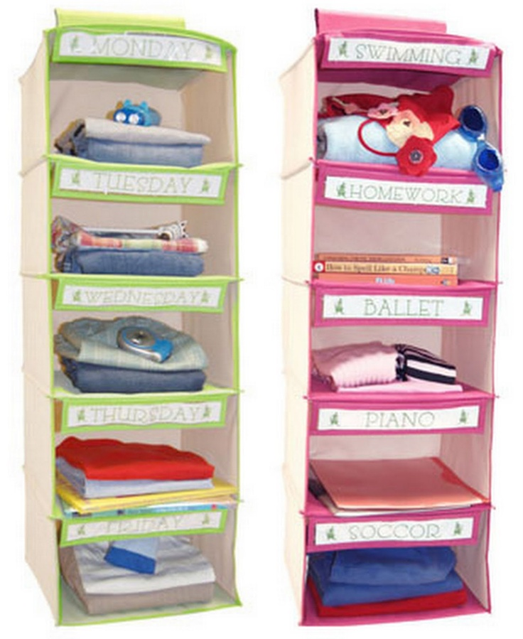Clothes organizer- I have a skinnier longer organizer that I use to lay put brodys clothes for the week. Great idea for kids. Also fun to let them pick out what they'll wear too.