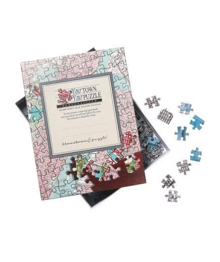 Hometown Jigsaw Puzzle | This season, give the people on your list presents that have their names written all over them. (Literally.) See more great gifts for everyone on your list.