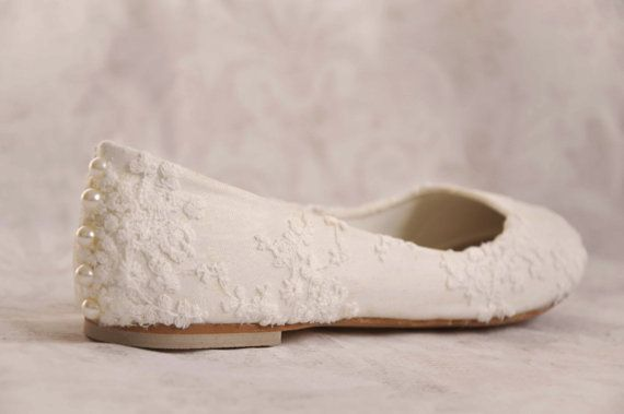 Wedding shoes lace wedding shoes flats by gorgeousweddingshoes