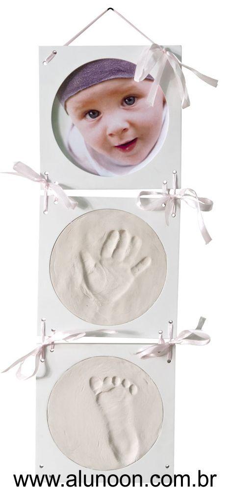 Molde de gesso caseiro do pé ou da mão de um bebê - Educação Infantil - Aluno On