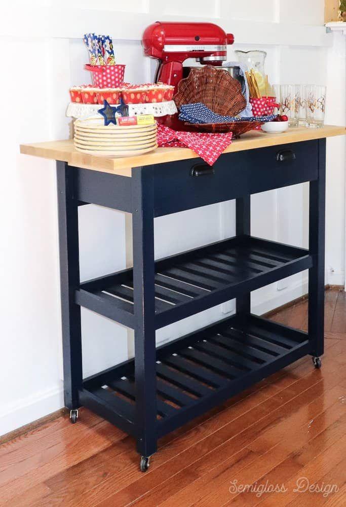 Ikea Forhoja Hack Three Ways To Use A Kitchen Cart Ikea Small