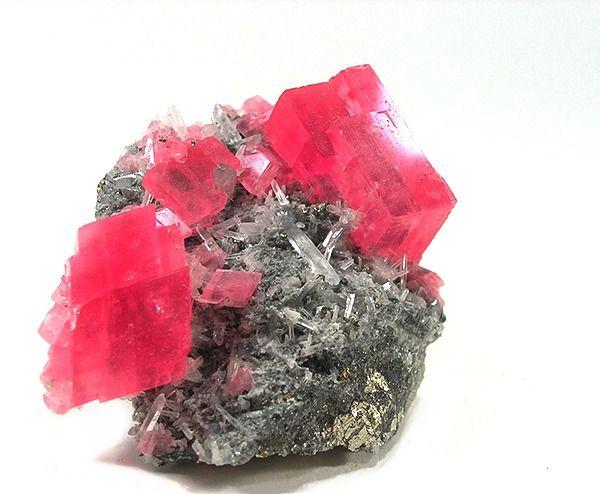 Rhodochrosite with Quartz - Alma, Colorado, USA