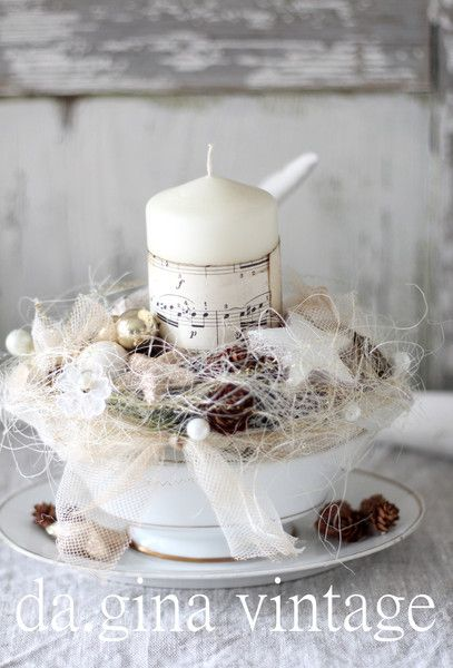 Best 25 shabby chic centerpieces ideas on pinterest for Shabby chic weihnachtsdeko