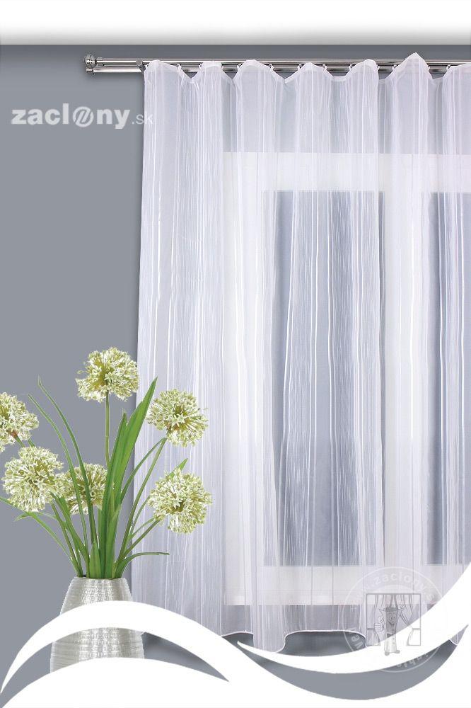 Záclona metráž 6400 | E-SHOP - www.zaclony.sk - záclony, závesy, garniže, posteľná bielizeň, deky, obrusy