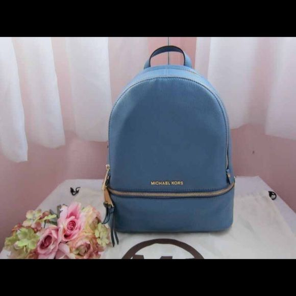 """Michael Kors Backpack 1 HOUR SALE -100% Cow Leather  -Gold-Tone Hardware  -10"""" X 11.75"""" X 4.5""""  -Lining: 100% Polyester  -Imported Michael Kors Bags Backpacks"""