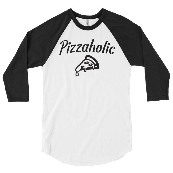 Pizzaholic Baseball Unisex 3/4 Sleeve Shirt