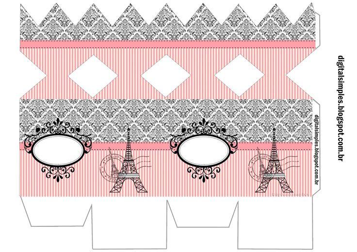 Precioso París: Cajas para Imprimir Gratis.   Oh My Fiesta para Chicas!