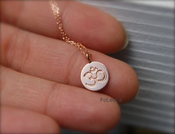 Hey, I found this really awesome Etsy listing at https://www.etsy.com/listing/193813988/rose-gold-om-necklace-spiritual