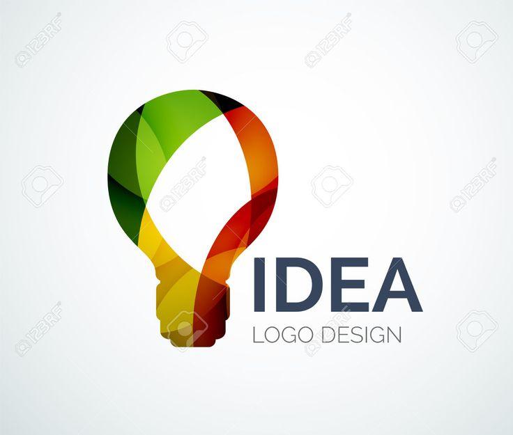 Projeto Logo Luz Lâmpada Feita De Peças De Cores Royalty Free Cliparts, Vetores…