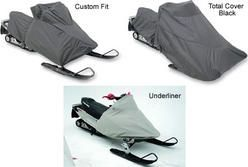 Snowmobile covers for Polaris 600 RMK 2006 to 2015 snowmobiles. Choice of covers include the custom fit, the total cover  and the underliner.