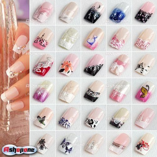 Acrylic Nail Tip Design Ideas Prev Next French Tip Nail Designs