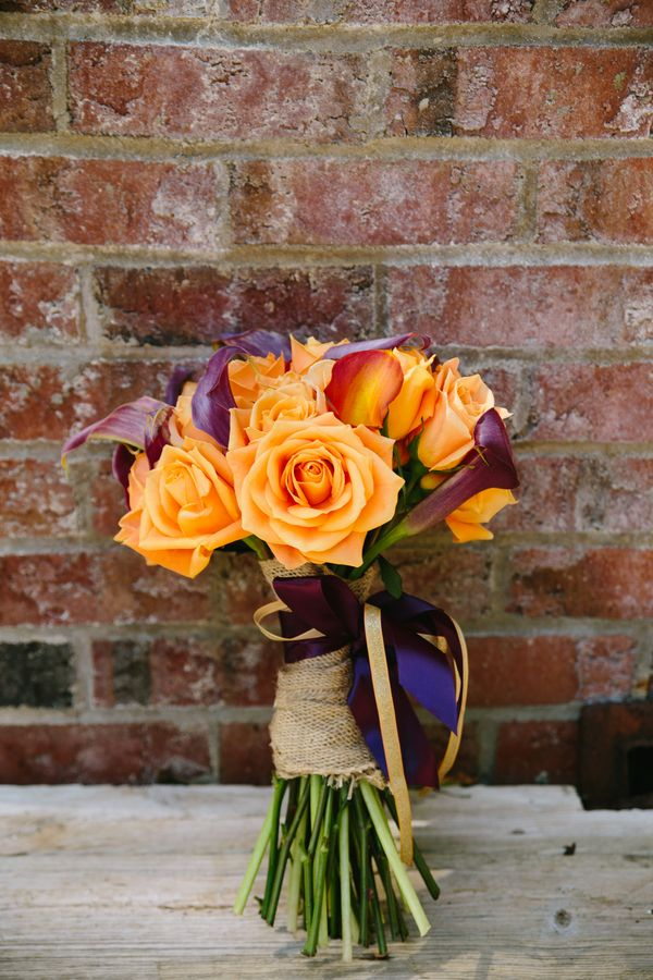 Purple and Orange Fall Bouquet|{Intimate & Colorful} Early Fall Wedding|Photographer: Story and Rhythm