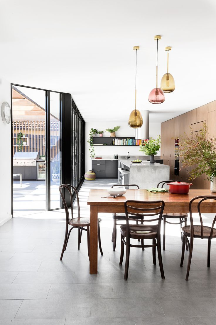 This 1980s Melbourne brick home was re-designed to be eco-friendly with a kitchen including energy efficient appliances and lighting. Photography: Martina Gemmola | Styling: Ruth Welsby | Story: Australian House & Garden