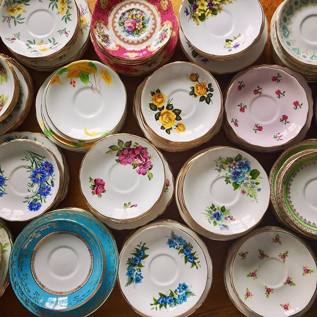The mountain of dirty dishes has been replaced with a table top full of clean pretty china ready to be boxed for the next event. But before I do that, I'm going to take a nice walk along the river. Are you doing anything nice today?