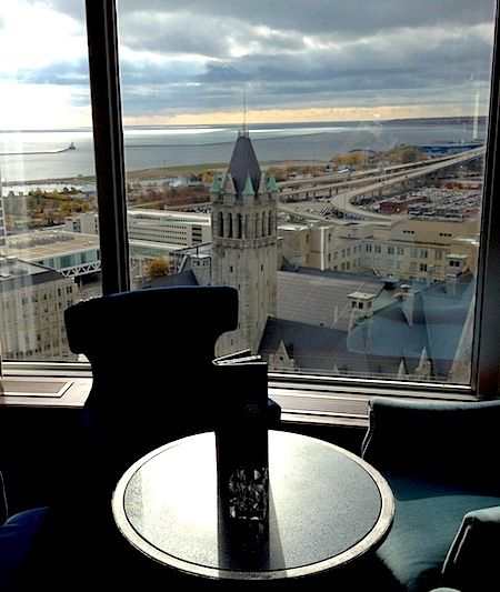 View of Lk. Michigan from Blu in the Pfister Hotel