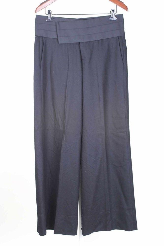 Tevrow & Chase Size 8 NWT Size 8 Black Wide Leg Tuxedo Pants   866 T914    eBay
