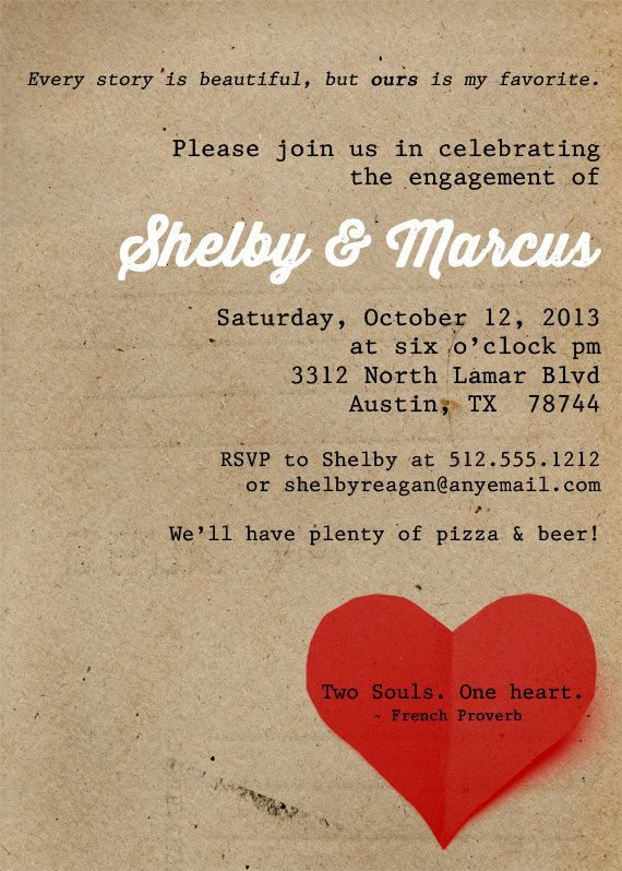 7 best Invitation images on Pinterest Customized invitations - free engagement invitations