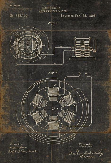 Tesla electric motor patent