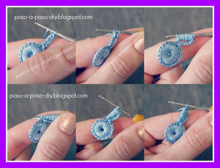 Flor de Tres Pétalos al Crochet - Paso 3
