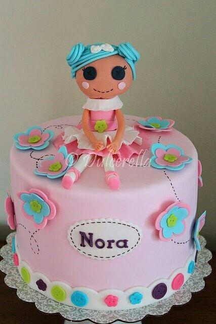 Lalaloopsy cake  Love the shade of teal