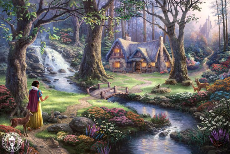 mickey mouse painting by thomas kinkade - Google Search