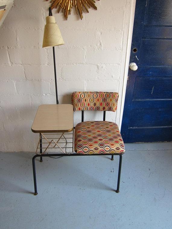 Mid Century Telephone Chair/Table/light