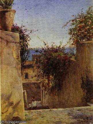 Scène de rue sicile de Ernest Arthur Rowe (1863-1922, United Kingdom)