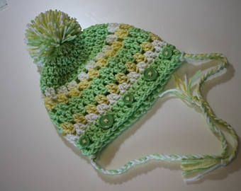 Girls Toddler Hat, beanie hat, snow hat, hand crochet, knit, knit hat, toddler size, easter colors, hand knit hat, winter hat, snow cap