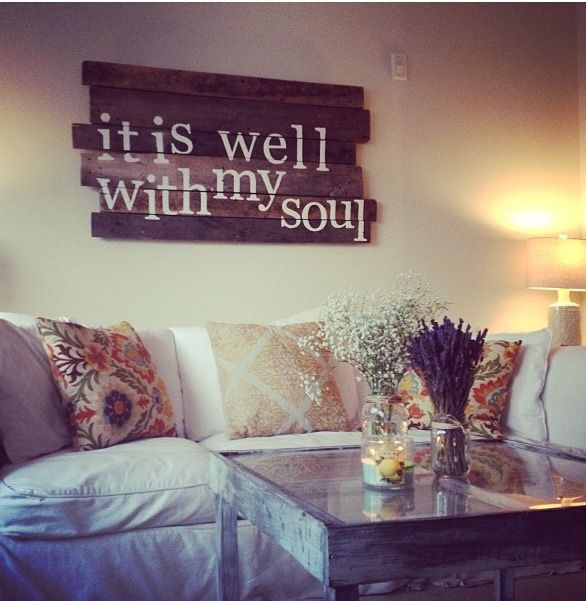 Cute room wall decor it is well living rooms different for Room decor signs