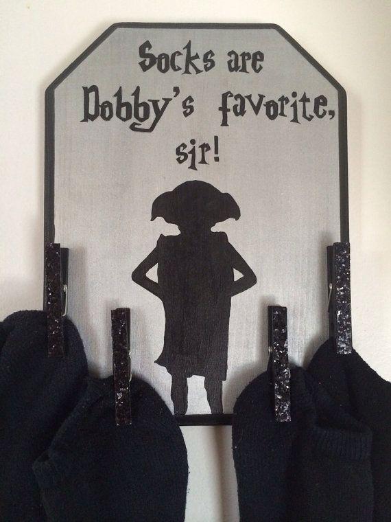 Décoration : un porte-chaussettes pour Dobby, l'elfe de maison