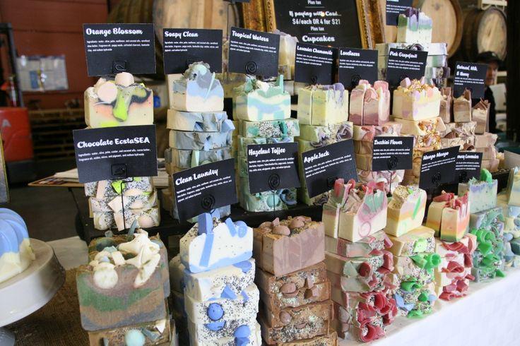 The Daily Scrub Soap Display at Spring Bada Bing 2013. www.dailyscrubsoap.com