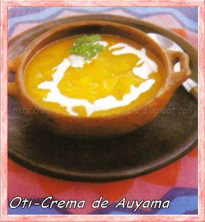 CREMA DE AUYAMA  VENEZUELA)   - Oti- El menú diario Venezolano.....y algo más de los países hermanos