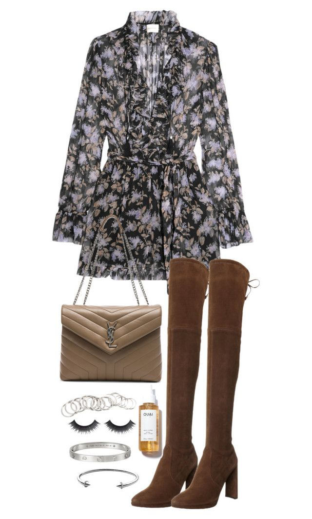 """""""Untitled #4787"""" by theeuropeancloset on Polyvore featuring Zimmermann, Stuart Weitzman, Yves Saint Laurent, H&M and Michael Kors"""