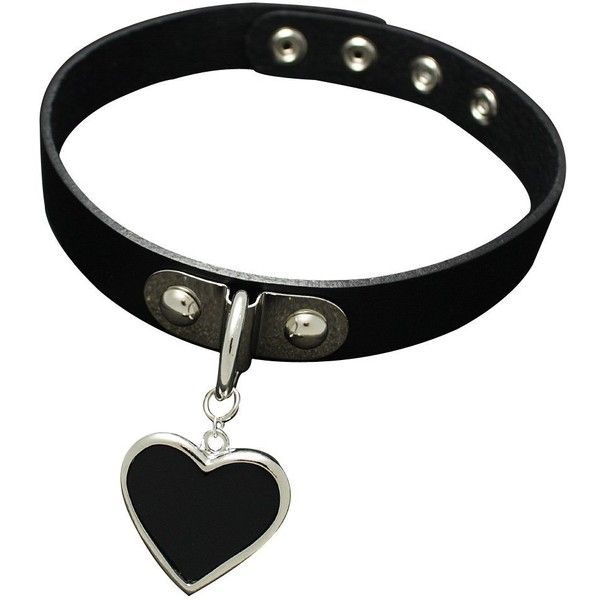 K-Craft Adult Collar Punk Goth Emo Genuine Leather Choker Necklace... (22 CAD) ❤ liked on Polyvore