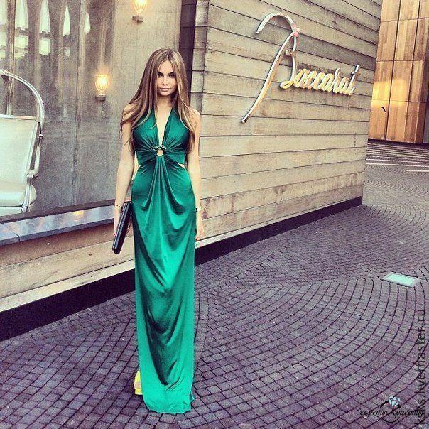 Купить emerald - изумрудный цвет, платье в пол, платье на выпускной, длинное платье, круизное платье