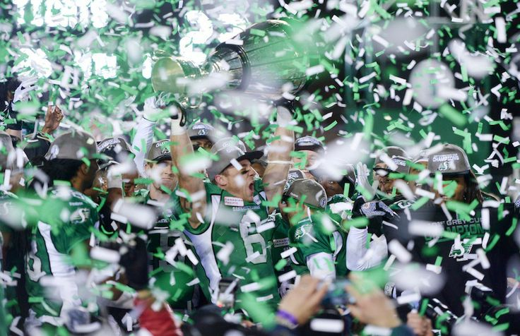 101 Grey Cup Champs- Saskatchewan Roughriders !!! GO SK !! Green is the color !