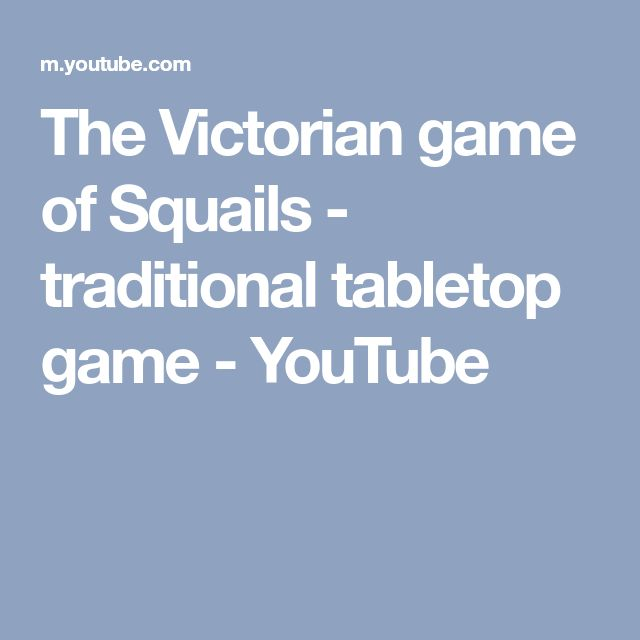 The Victorian game of Squails - traditional tabletop game - YouTube