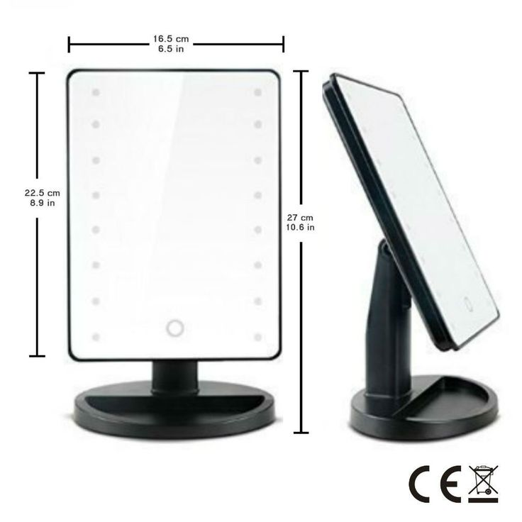 16 LED Makeup Mirror With Lights And Tray   Hollywood Backstage Portable Tabletop  Vanity Mirror (