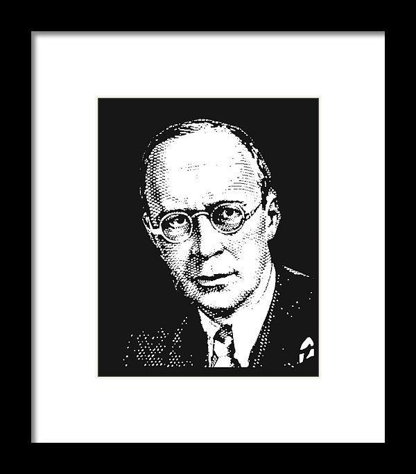 Sergei Prokofiev Framed Print featuring the mixed media Sergei Prokofiev by Otis Porritt