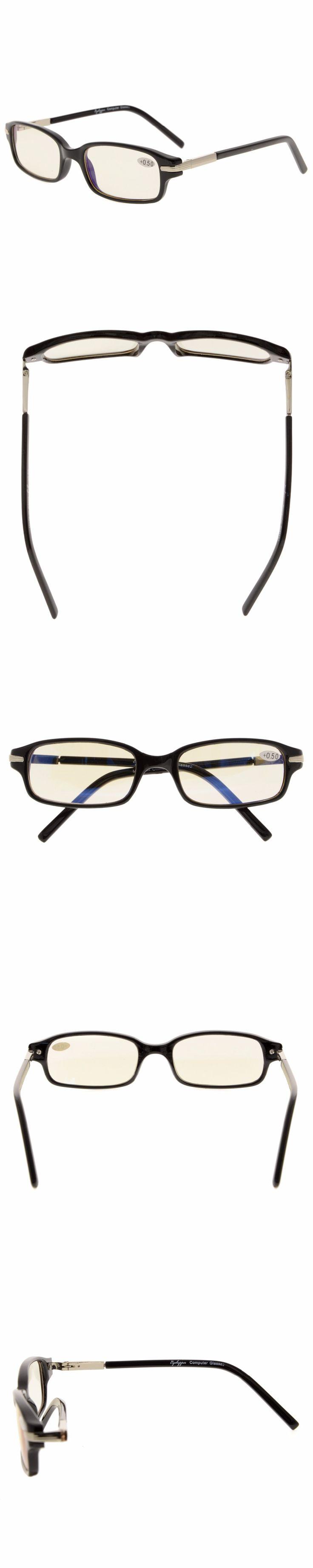 CG035 Eyekepper Spring Temple Classic Computer Reading Glasses UV Protection, Anti Glare Eyeglasses, Anti Blue Rays Readers