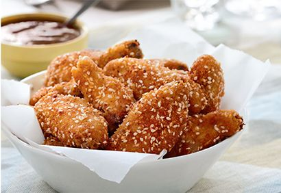 Les #ailes de #poulet croustillantes au sésame, #recette préférée de Carole Lefebvre. #CDP30