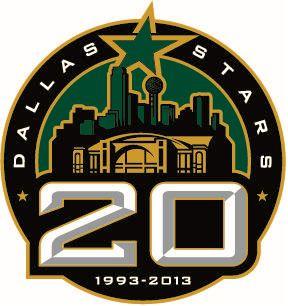 dallas hockey | Dallas Stars Anniversary Logo (2013) - Dallas Stars 20th anniversary ...