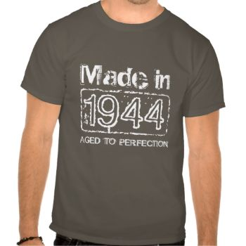Vintage 1974 Aged to perfection t shirt for men's 70th Birthday in 2014. Personalizable age year. Customize text to make it a perfect gift. Present for men: brother, husband, uncle, grandpa etc. Cool distressed look design. Cute present idea for seventy year old man. Age humor / joke. #birthday #vintage #men #aged #to #perfection #funny #age #dad #joke #1944 #70th #over #the #hill #humor #made #in #party #idea #years #grandpa