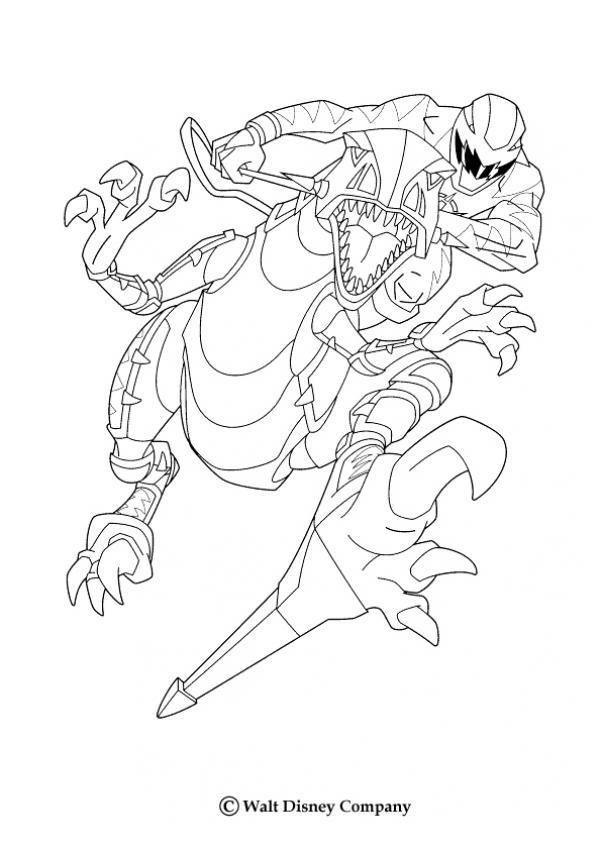 Coloriage Power Rangers Dino Charge A Imprimer Power Rangers