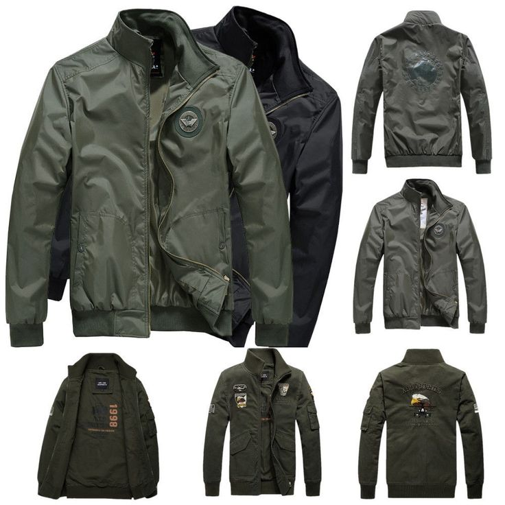 Men's Air Force Jacket MA1 Army Pilot Bomber Jacket Casual Coat Zipper Outwear | Clothing, Shoes & Accessories, Men's Clothing, Coats & Jackets | eBay!