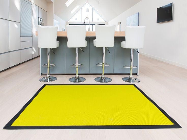 Vibrant lime green woven vinyl rug from Unnatural Flooring